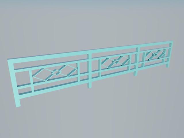 Pagar Tralis 3D Sket Up Material