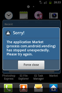 aplikasi android error