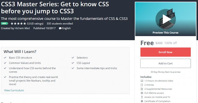 [100% Off] CSS3 Master Series: Get to know CSS before you jump to CSS3| Worth 200$