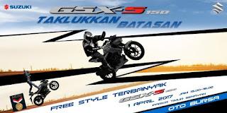 Puluhan Freestyler Jajal Suzuki GSX-S150 Di Acara Tumplek Blek Senayan ,1 April 2017