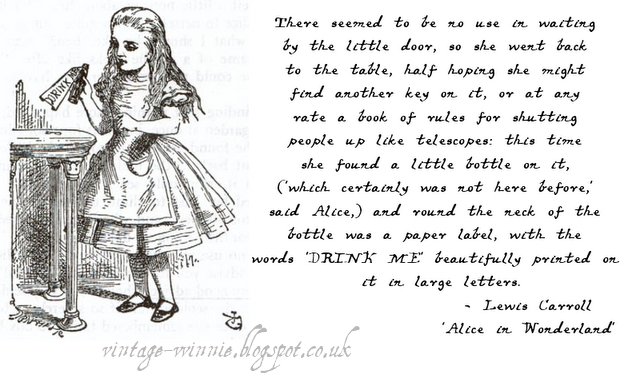 Poems Quotes And Prose Alice In Wonderland Drink Me