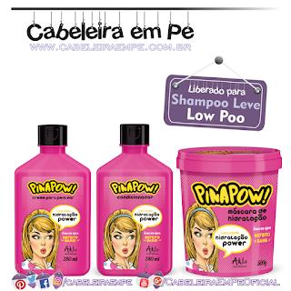 Condicionador, Creme para Pentear e Máscara Hidratação Power - PinaPow (Low Poo)