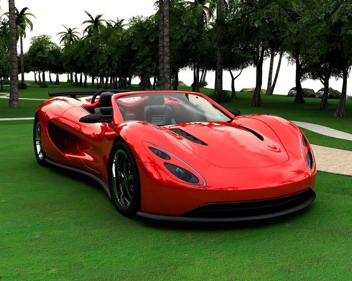 Spor üstü Açık Araba Kırmızı Resimyurdu