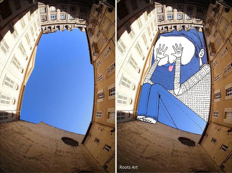 Arte con el cielo como lienzo.