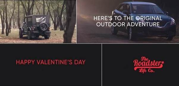 Roadster launches Valentine's Day campaign