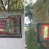 Pintan con los colores de la bandera de España el monolito al socialista Pablo Iglesias en Ferrol