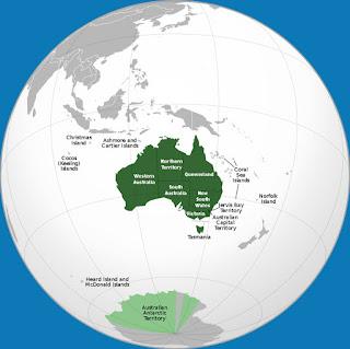 Gambar Peta Australia versi Globe