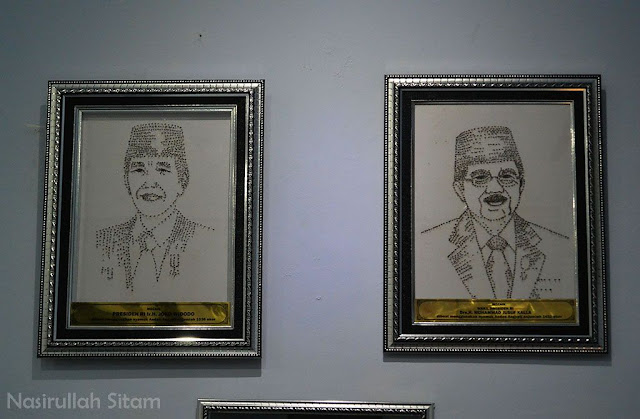 Mozaik Presiden dan Wakil Presiden terbuat dari Nyamuk