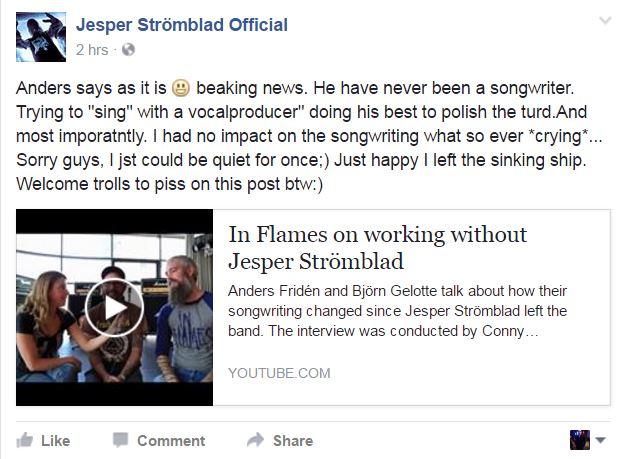 Facebook de Jespers Stromblad Project