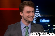 Daniel Radcliffe on The Colbert Report