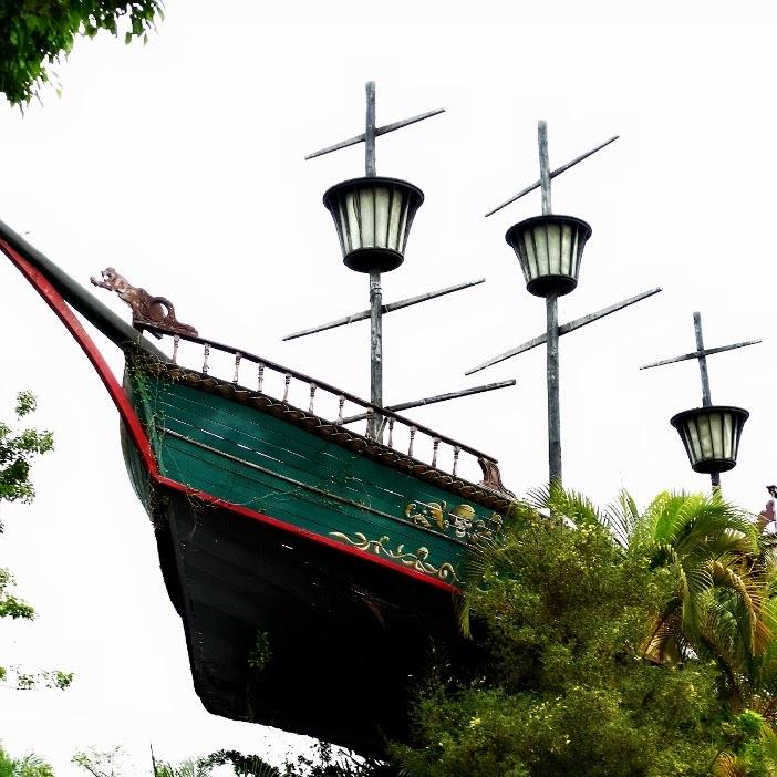 Navio Pirata, na Ilha dos Piratas, no Beto Carrero World.