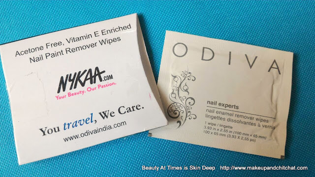 ODIVA  Nail Paint Remover Wipes