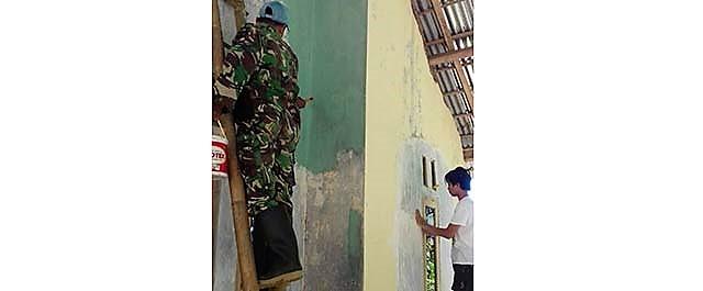 Kejar Target, Pengecatan RTLH Dilakukan Serentak