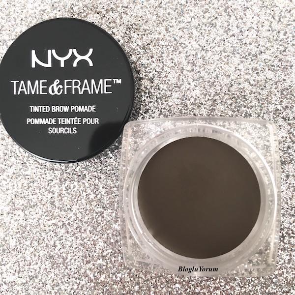 nyx tame frame tinted brow pomade kaş pomadı brunette 1