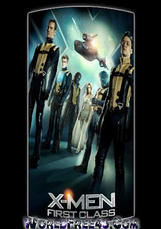 Poster Of Free Download X-Men: First Class 2011 300MB Full Movie Hindi Dubbed 720P Bluray HD HEVC Small Size Pc Movie Only At worldfree4u.com
