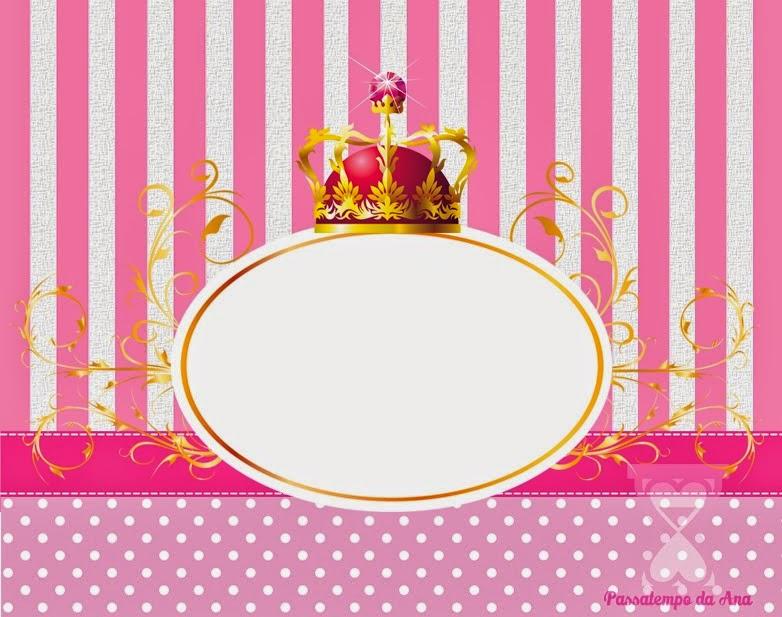 Corona de Reina: Mini kit para Imprimir Gratis. | Oh My Fiesta para ...