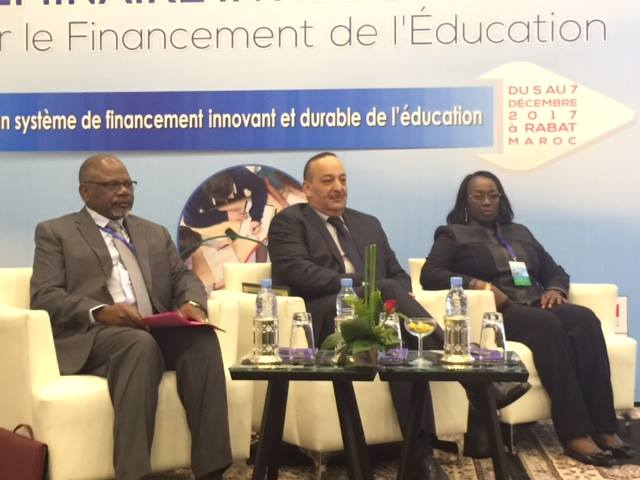 ندوة دولية حول تمويل التربية تحت شعار من أجل نظام تمويلي مبتكر ومستدام للتربية