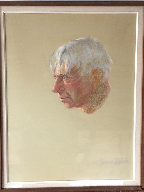 Carl Sandberg Portrait by Francis Quirk- a  study for an oil portrait.