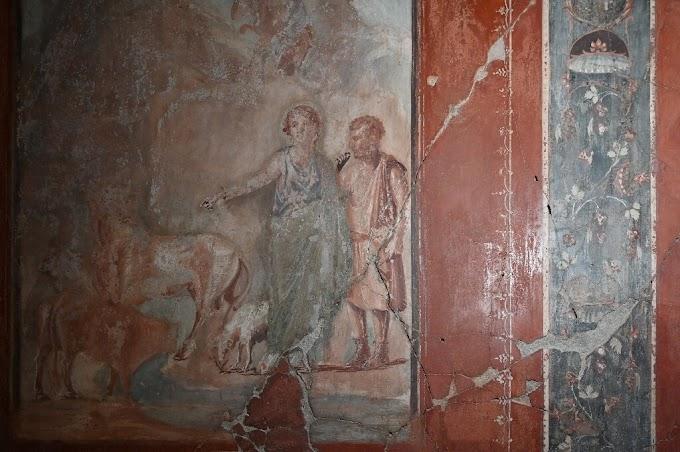 Νέα τεχνική αποκαλύπτει τα χαμένα έργα τέχνης στις τοιχογραφίες στην Ηράκλεια (Herculaneum) της Μ.Ελλάδας