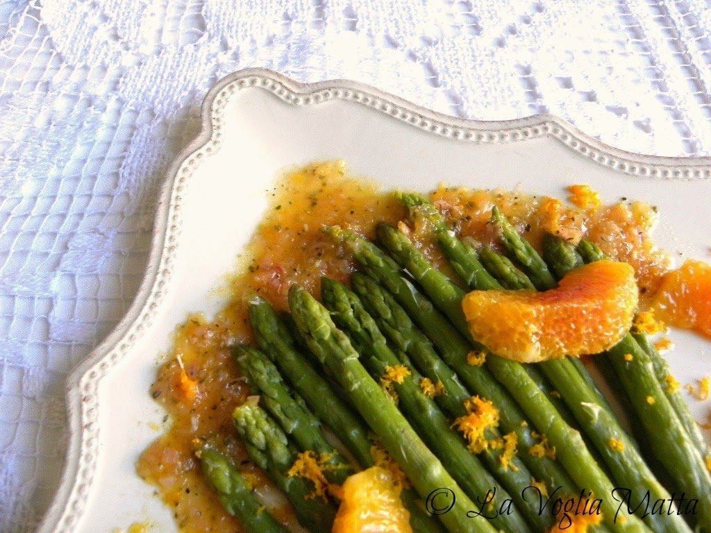 asparagi e citronette all'arancia