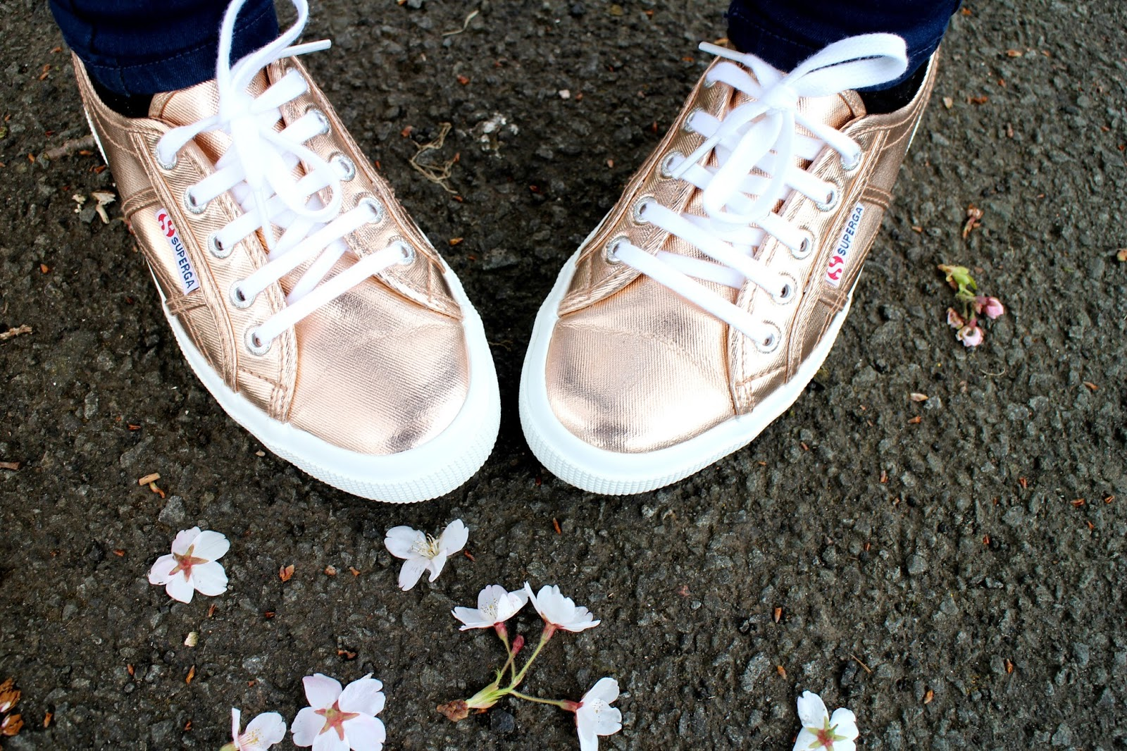 Supergra Rose Gold Trainers