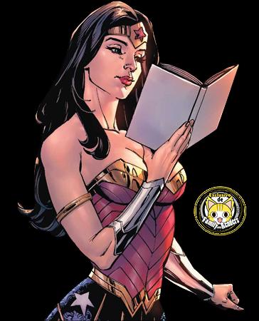 Render Wonder Woman Leyendo