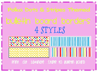 polka dots themed bulletin board border