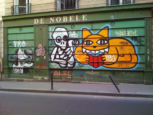 Sunday street art sonke mygalo 2000 et m chat rue bonaparte paris 6 - Rue bonaparte paris 6 ...