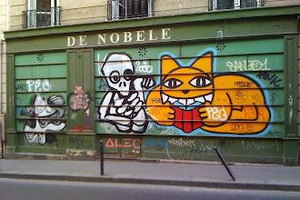 Sunday Street Art : Sonke, Mygalo 2000 et M Chat - rue Bonaparte - Paris 6