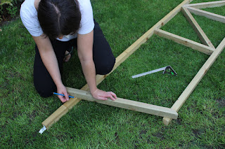 how to cut roof pitch on a shed
