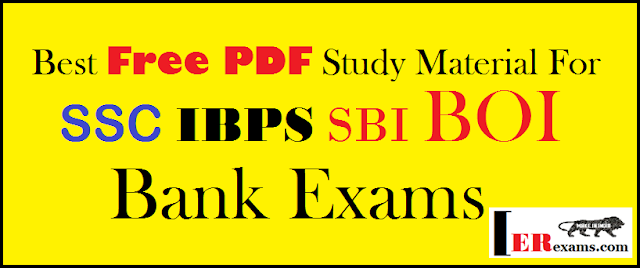 SSC IBPS SBI BOI Bank Exams Study Material Free Pdf download. Bank exam IBPS,SBI, BOI, exam study material free pdf download. IBPS exam latest study material book notes free pdf download. BOI Exam SBI exam best books and free pdf download.