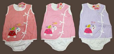 model baju bayi perempuan umur 2 bulan