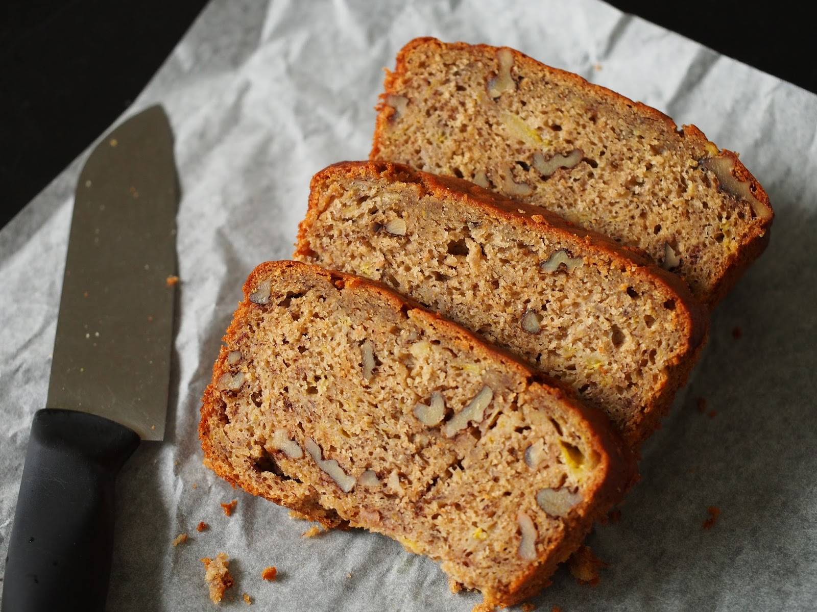 Simple everyday food banana walnut loaf this is jaime olivers recipe as always i like to reduce the amount of sugar and butter the level of sweetness is just right for us and the loaf is very forumfinder Images