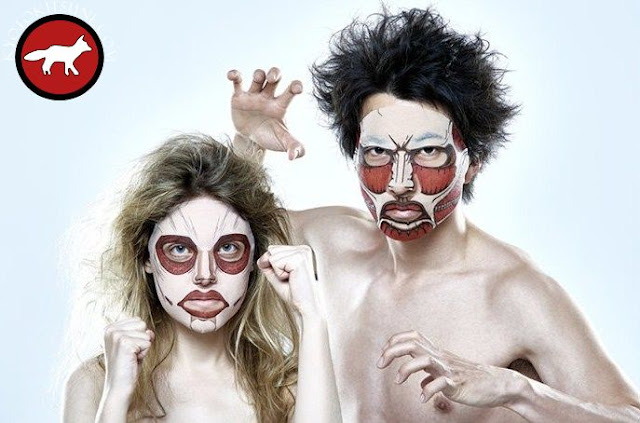 Masque de soin du visage L'attaque des titans pour homme et femme exclusivement au Japon