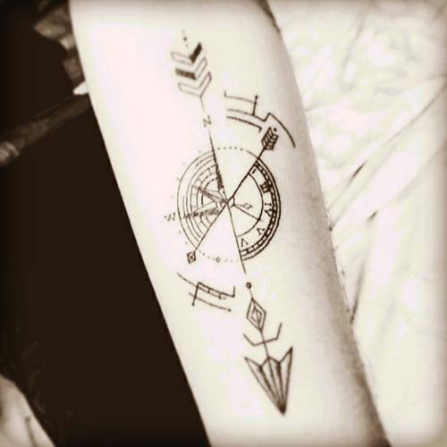 ok dövmeleri compass arrow tattoos