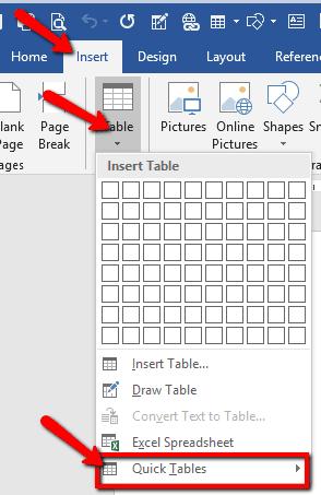 5 Cara Membuat Tabel Dalam Microsoft Word Pakar Tutorial