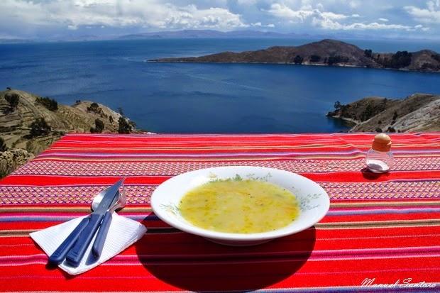 Isla del Sol, pranzo con vista da favola