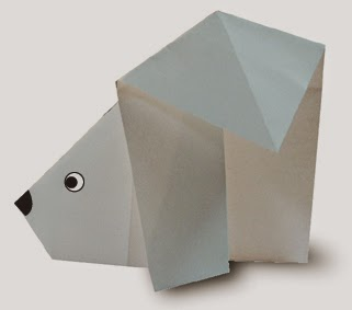 Origami Tutorials - How to make a Polar Bear with Video