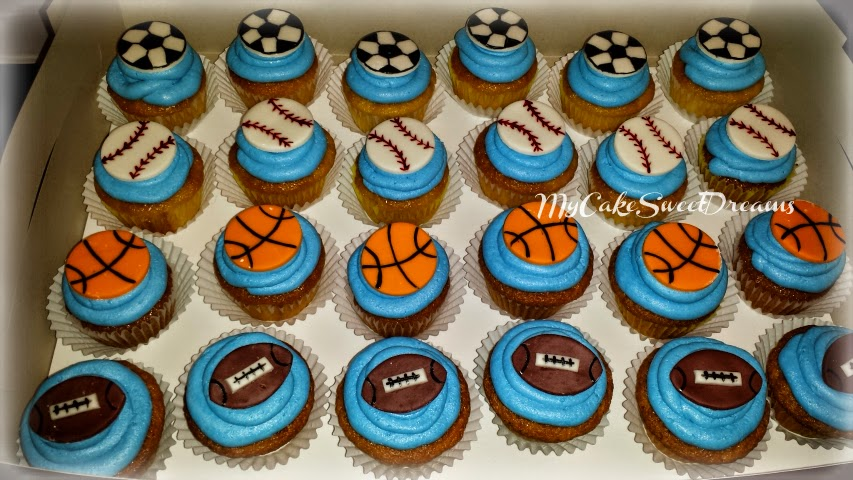 My Cake Sweet Dreams All Sports Birthday Cake Cupcakes