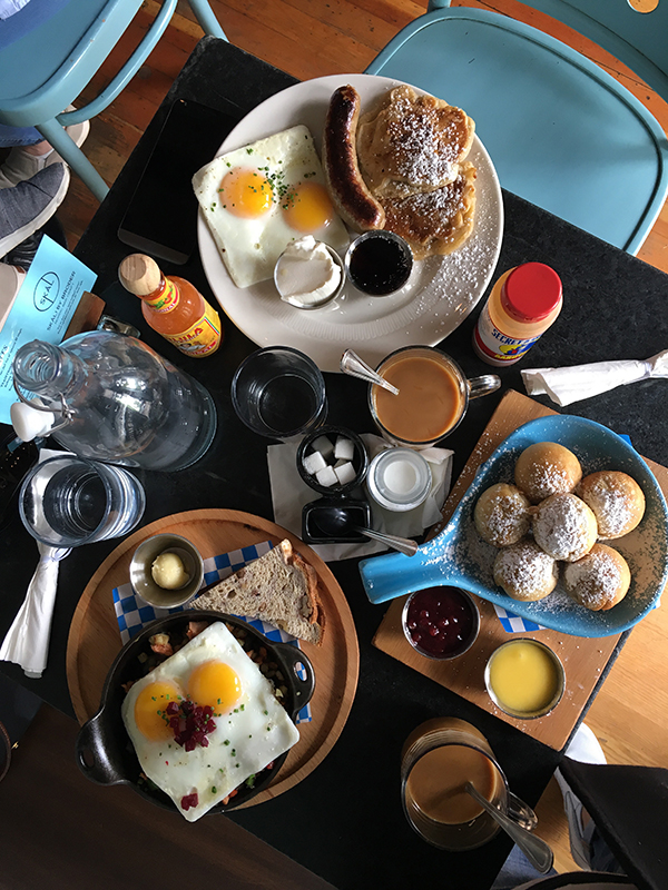 Brunch at Broder Cafe in Portland, Oregon