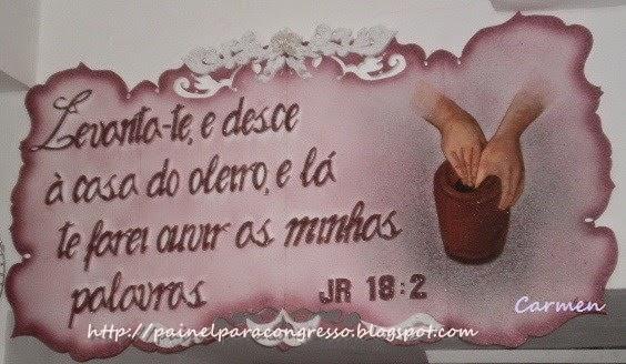Painel para círculo de oração  /  Jeremias 18:2
