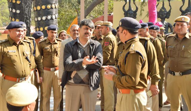 Police commissioner Amitabh Dhillon visited Surjkund fair, security arrangements were taken
