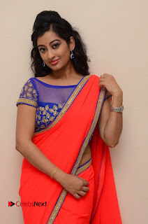 Actress Tejaswini Pictures in Saree at Pratikshanam Audio Launch  0019.JPG