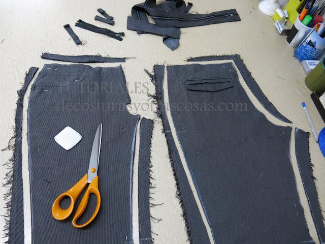 como hacer mas pequeño un pantalón talla grande
