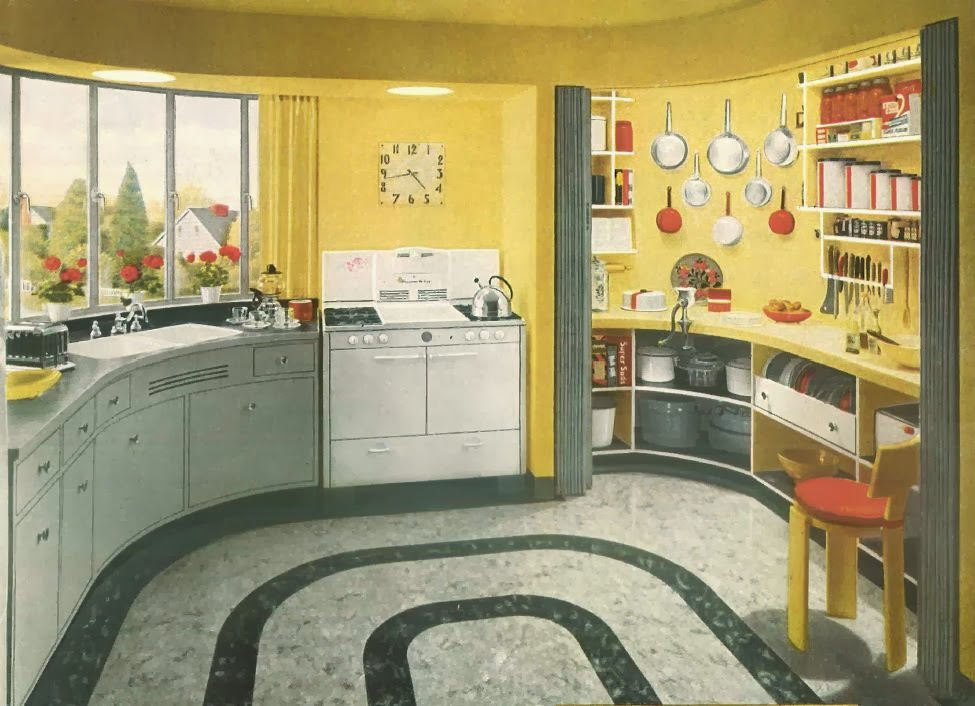Sublime mercies my new retro kitchen formica and chrome for 1940 s hotel decor