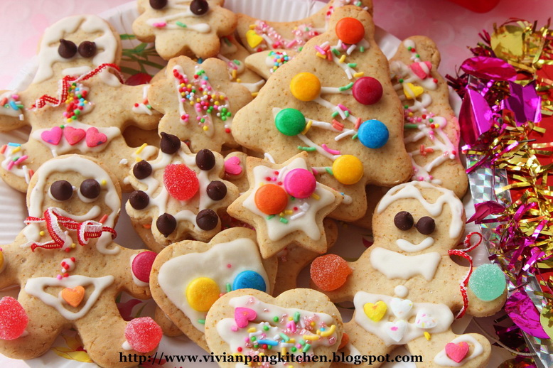 Vivian Pang Kitchen: Gingerbread Cookies with Egg-free ...
