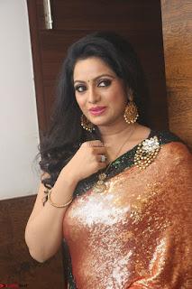Udaya Bhanu lookssizzling in a Saree Choli at Gautam Nanda music launchi ~ Exclusive Celebrities Galleries 068.JPG