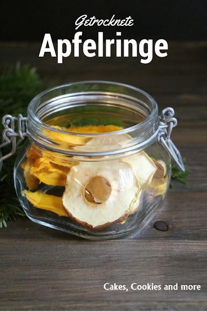 Getrocknete Apfelringe