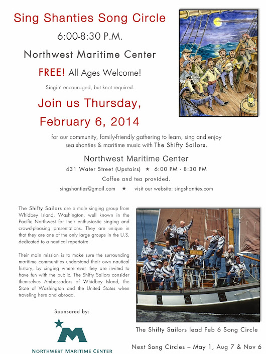 February 6th - The Shifty Sailors Lead Song Circle at the Northwest Maritime Center!