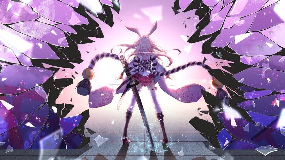 Anime Girl Pink Hair Yae Sakura Honkai Impact 3rd 4k